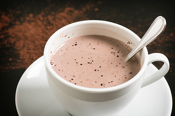 hot cocoa at Grand Colonial Bed and Breakfast near Cooperstown, NY